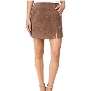 BlankNYC Brown Suede Mini Skirt